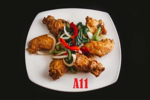 A11.Chicken Wings (Marinated with Garlic Butter or Sauce)