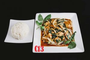 C13. Chicken with Basil
